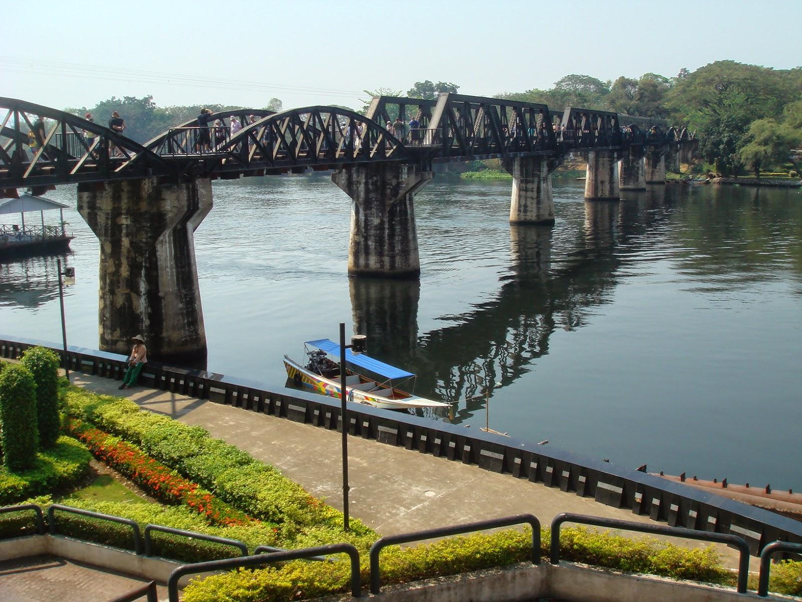 The Bridge On The River Kwai, Kanchanaburi, Thailand ...