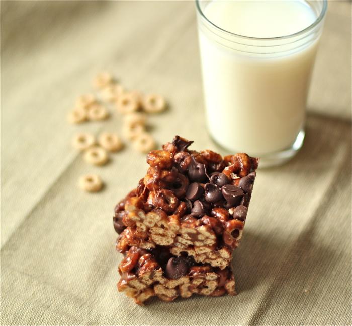Chocolatey Peanut Butter Cheerio Treats