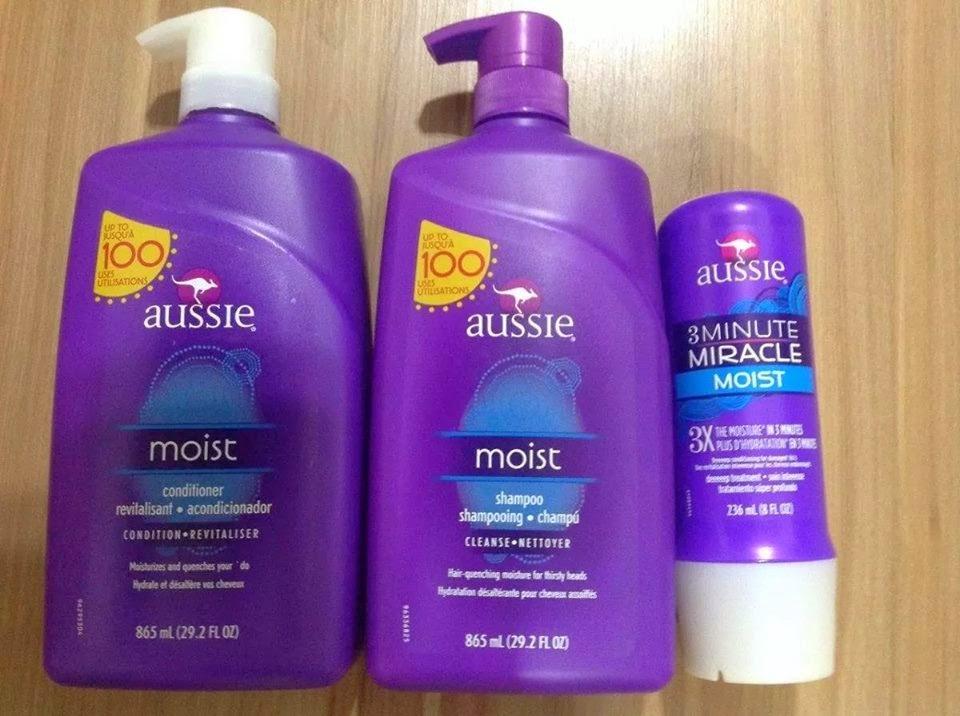 Shampoo Aussie/ moist 865 ml + Condicionador Aussie/moist 865 ml + Miracle moist 3 minute