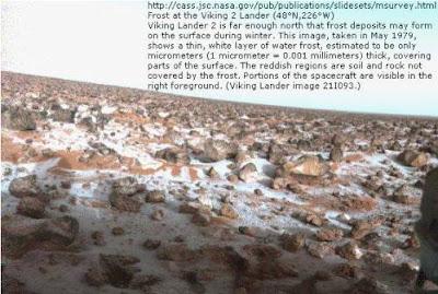 Extrañas fotografías de Marte - depósitos de nieve