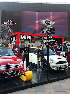 Mini Cooper display at Sanlitun
