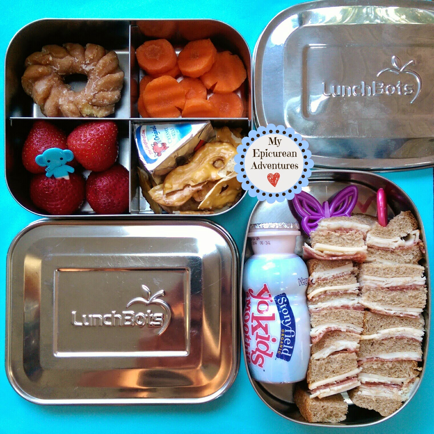 My Epicurean Adventures: Here's Lunch #36: Sandwiches on Sticks and a PB&J in @lunchbots