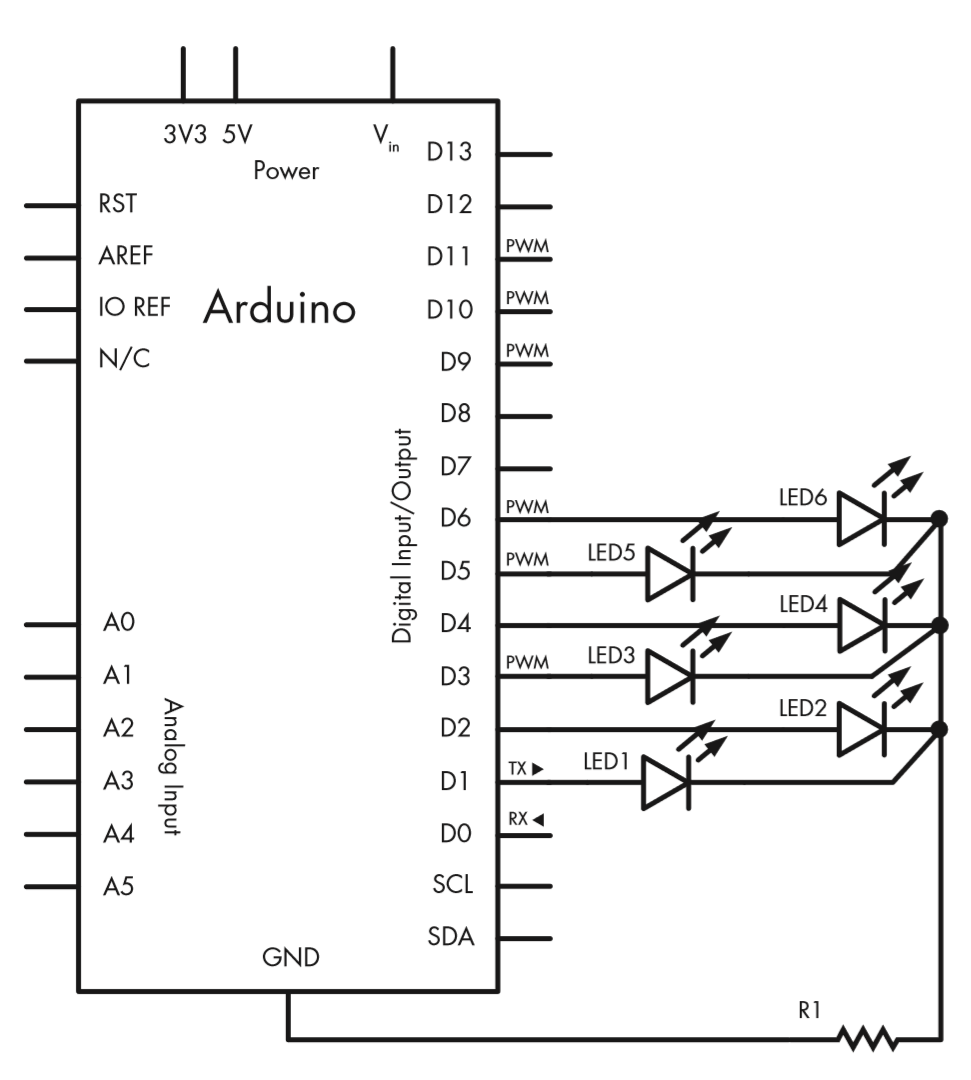 Electronics Time: Electronic Dice Simple Arduino Project - DIY