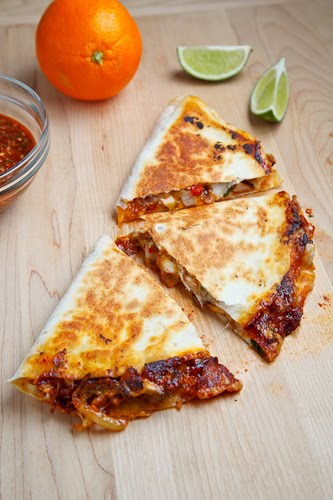 Sweet Chili Chicken Quesadilla Recipe — Dishmaps