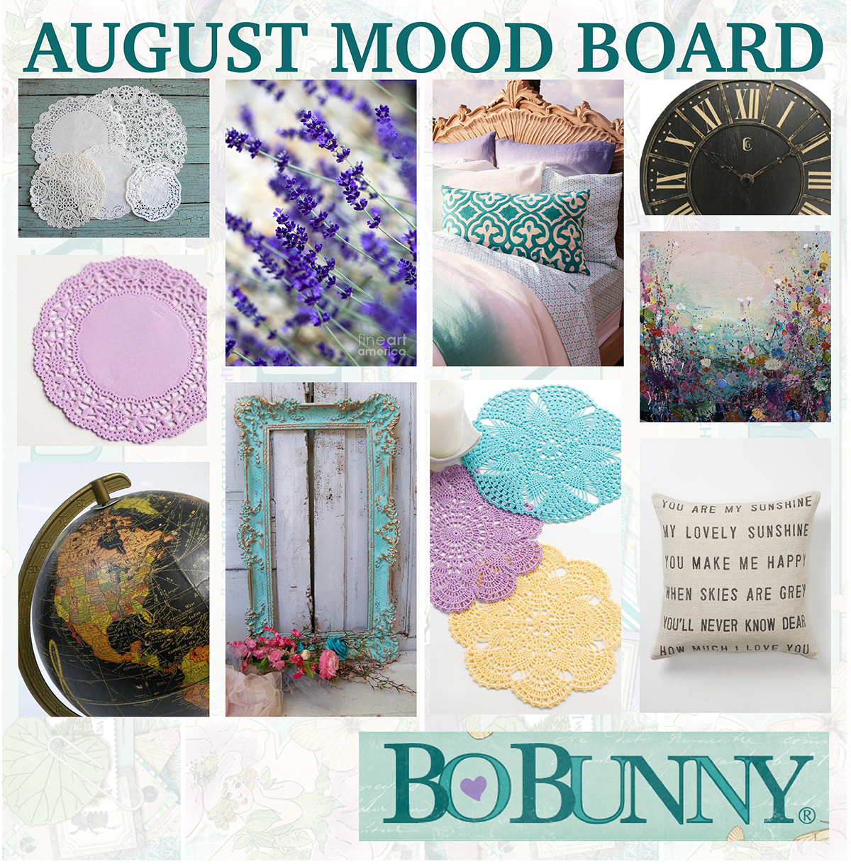 BoBunny August Mood Board