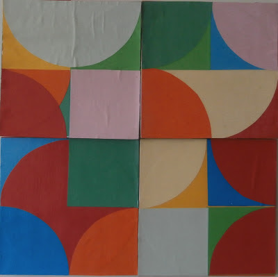 kate mackay, circle square, paper, cardboard, non objective, geometric abstraction, factory 49, miami