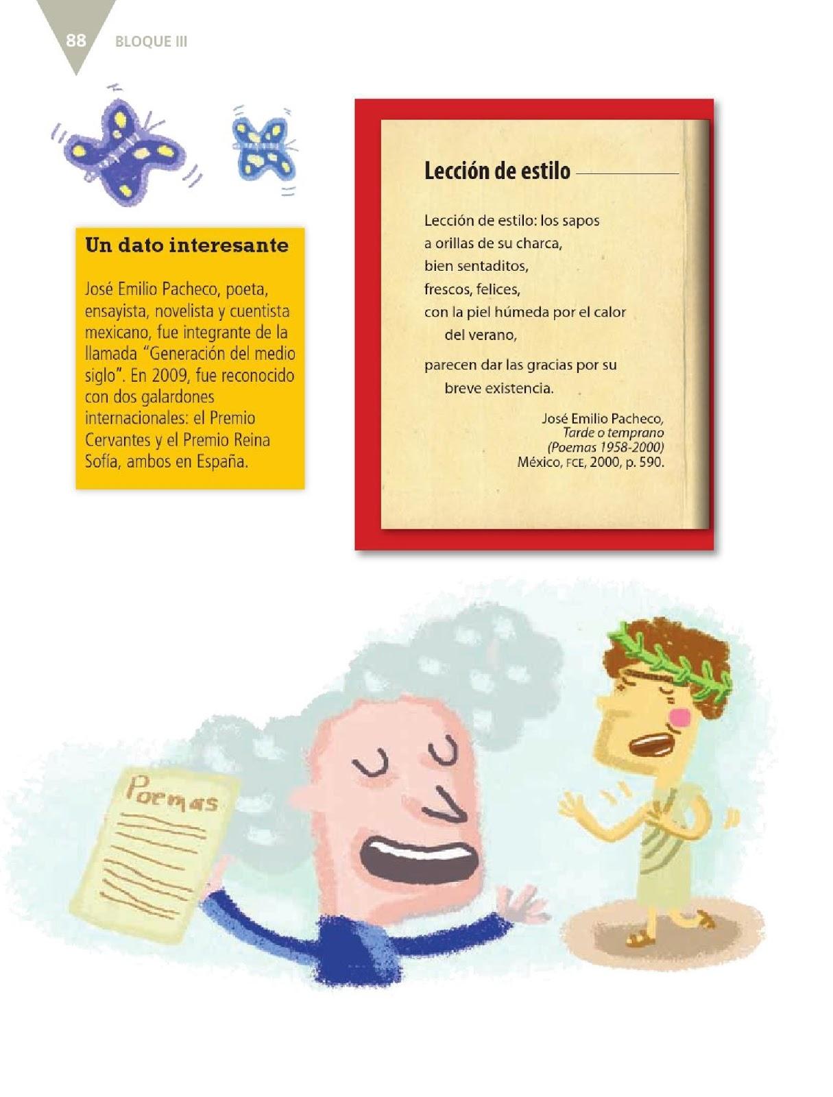 poemas de quinto grado leer poemas bloque iii lecci 243 n