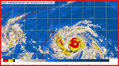 Satellite update of Typhoon Yolanda