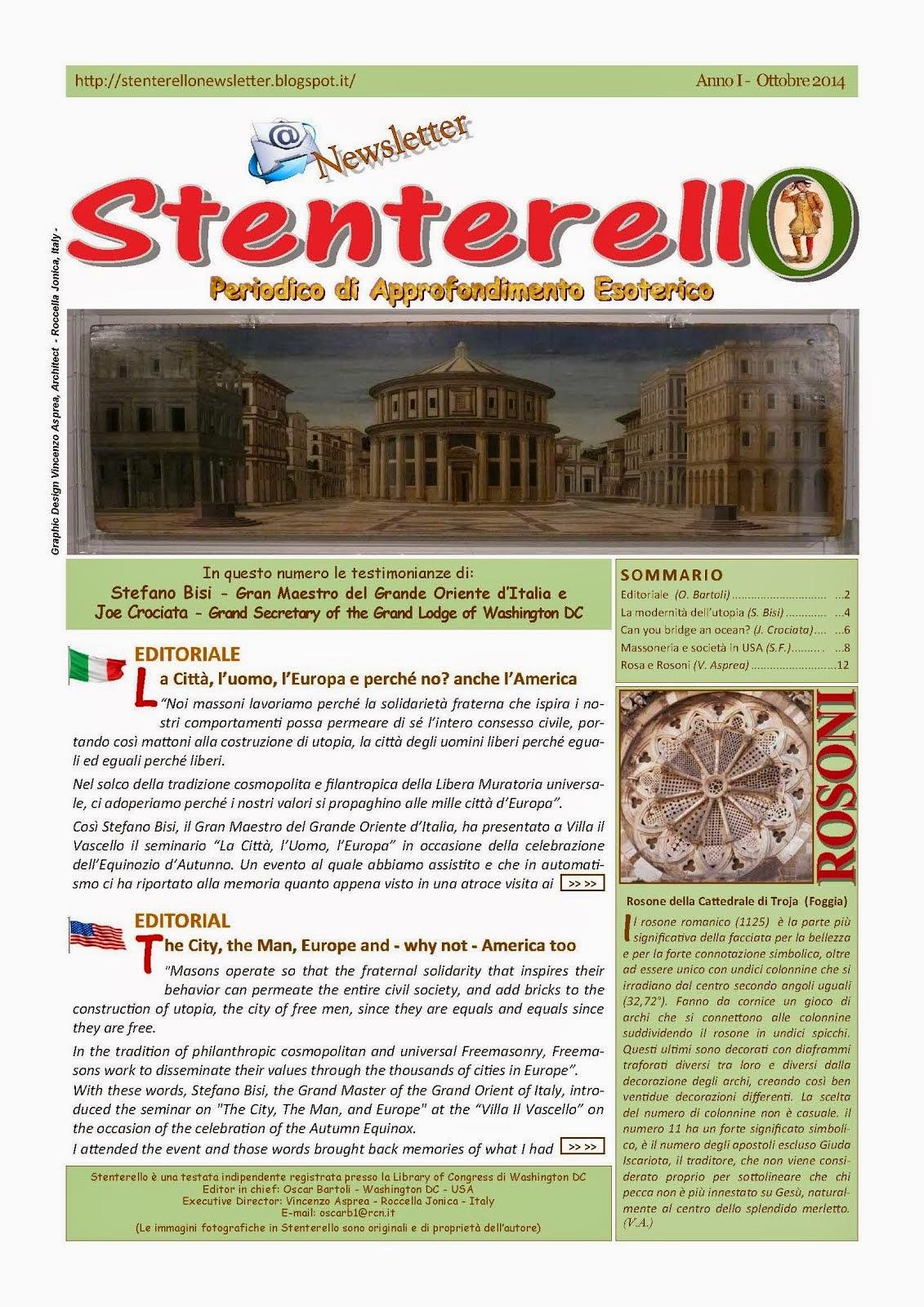 Stenterello Anno I - Ottobre 2014