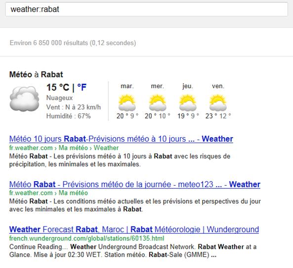 Techniques de recherche sur google - Quelle heure le soleil se couche ...
