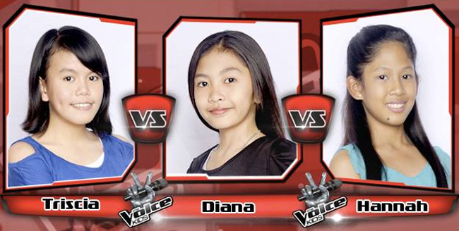 Diana Won Over Tricia and Hannah on The Sing-offs for The Voice Kids Philippines