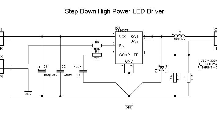 Low Cost High Brightness LED Driver   Leuchtdiödchen und Kondensator