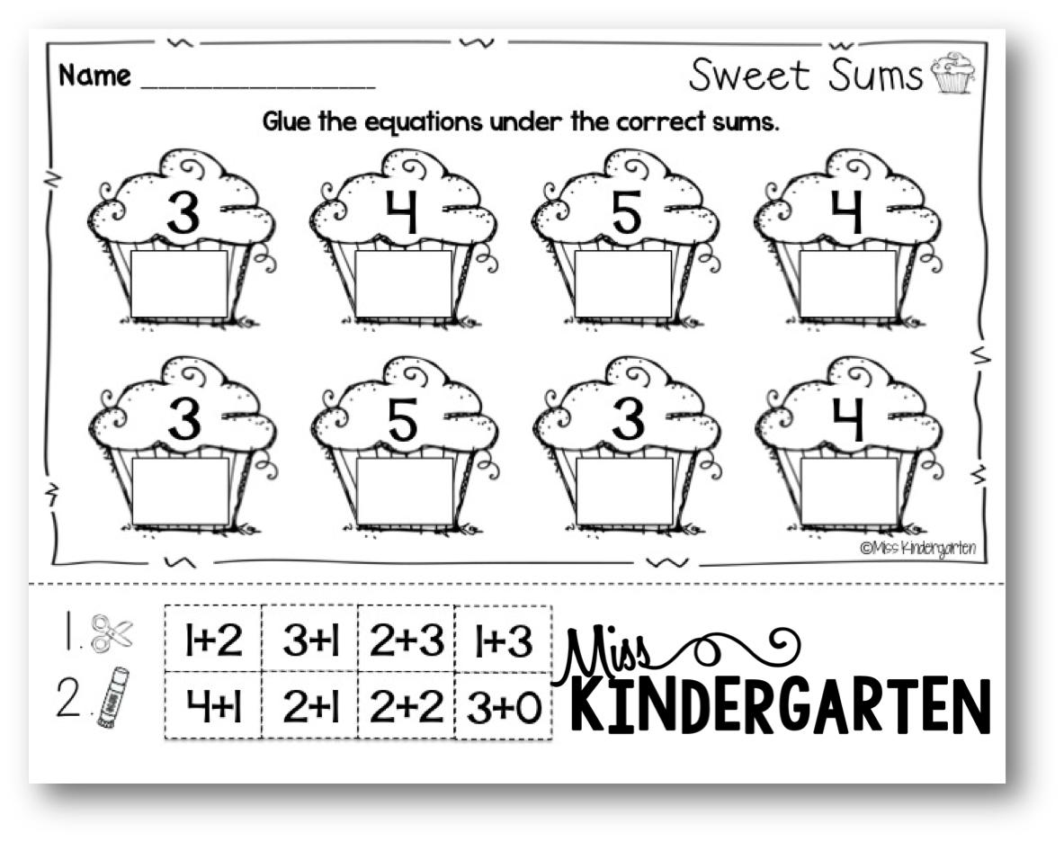 worksheet Math Activities For Kindergarten february activities miss kindergarten some fun math printables from my print and go it is also included in winter bundle if you already own that have these