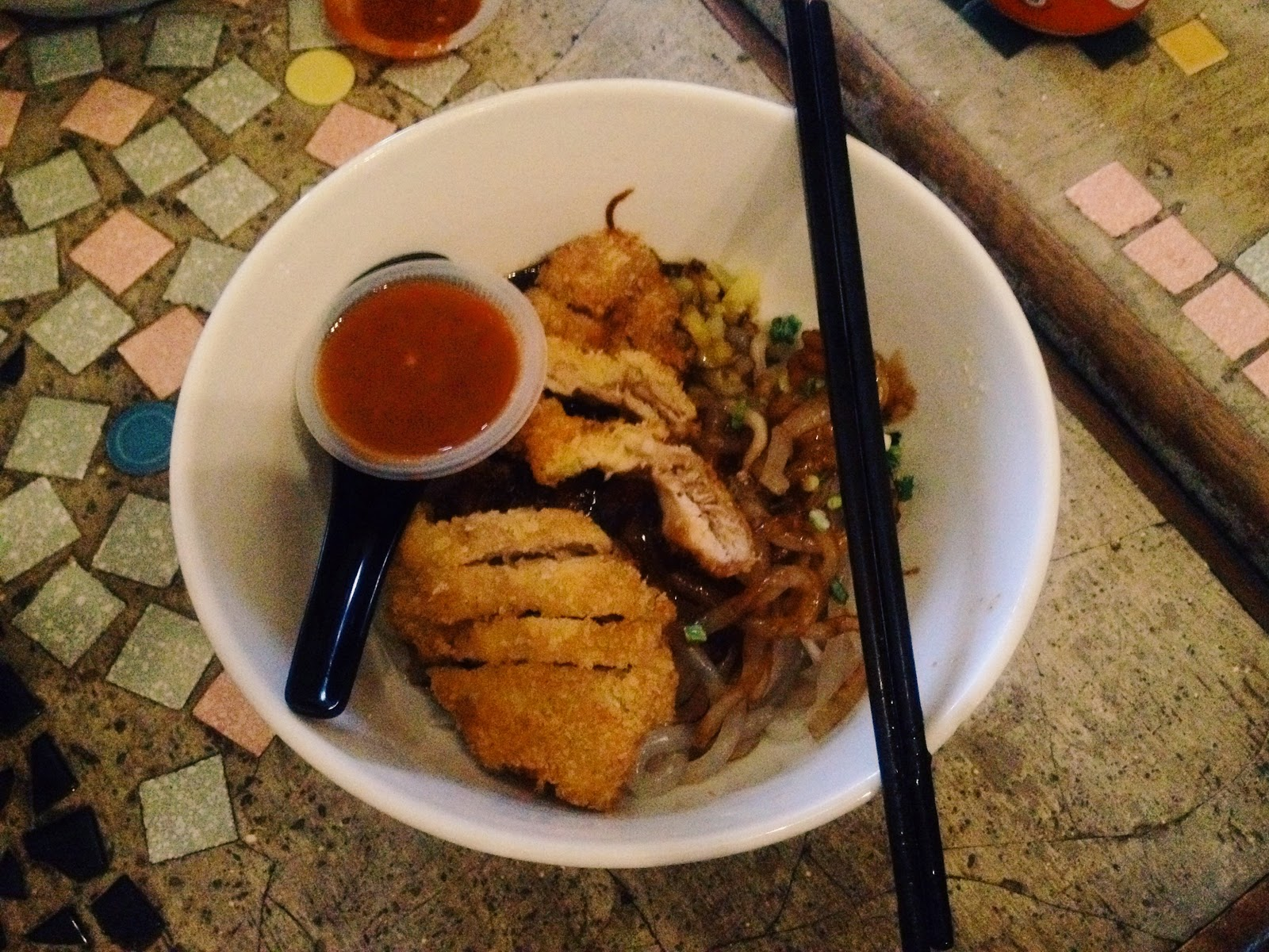 Hainanese Chicken Noodle ; Roost Cafe Juice+Bar @ Jalan Dhoby, Johor Bahru, Johor, Malaysia