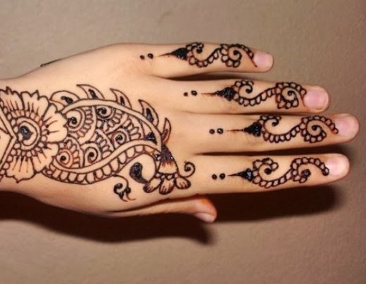 Mehndi Fingers Design : Mehndi designs for fingers