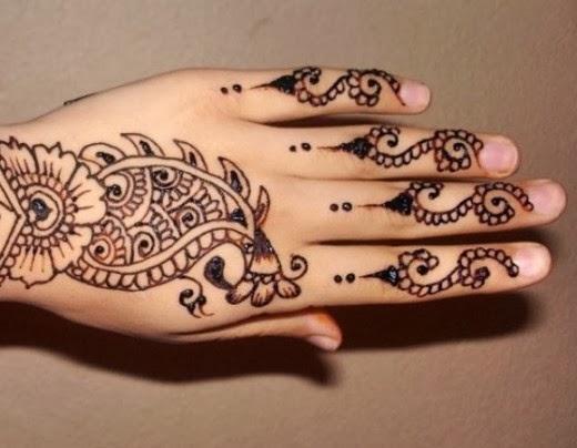Mehndi For Only Fingers : Mehndi designs for fingers