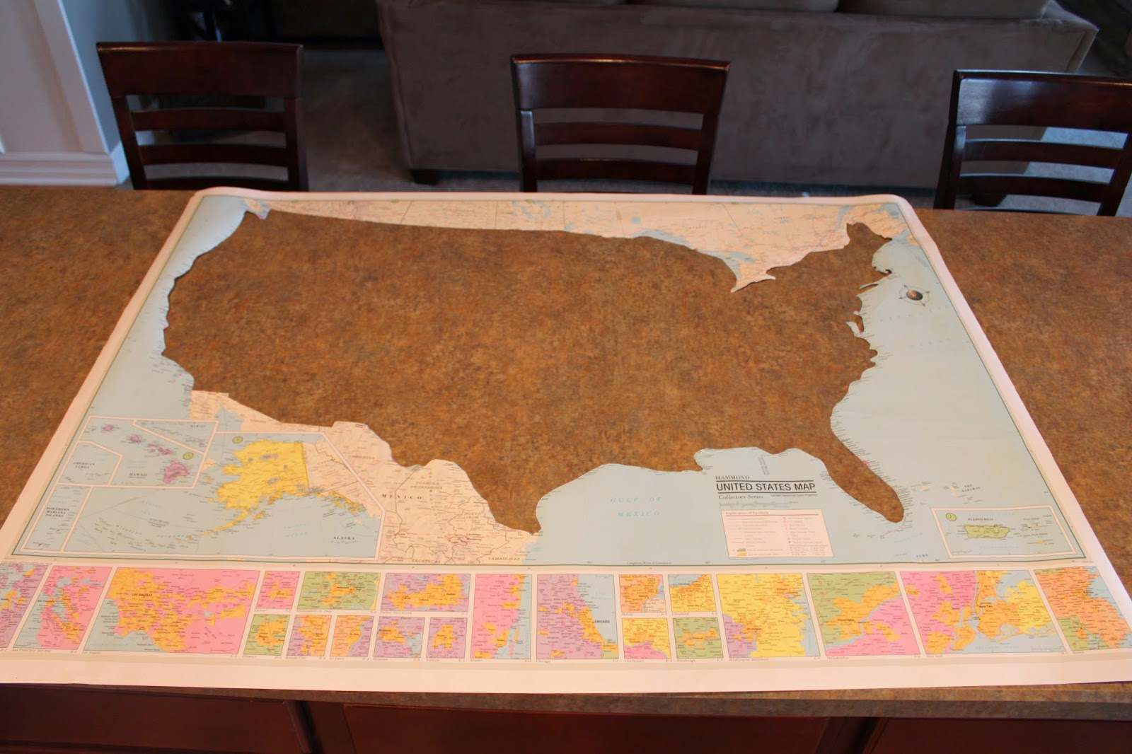 All Things DIY Pallet Wood USA Map - How to do us map on pallet