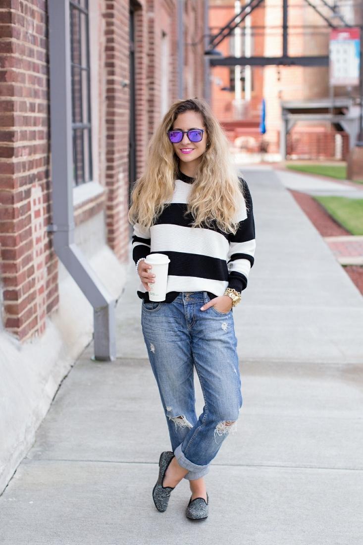 Ideas for how to wear boyfriend jeans