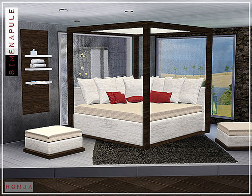 My sims 3 blog darlingtonia bedroom sets by simenapule for Sims 3 master bedroom ideas