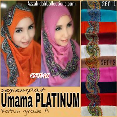 Jilbab Segi Empat Umama Scarf Platinum - www.azzahidahcollections.com