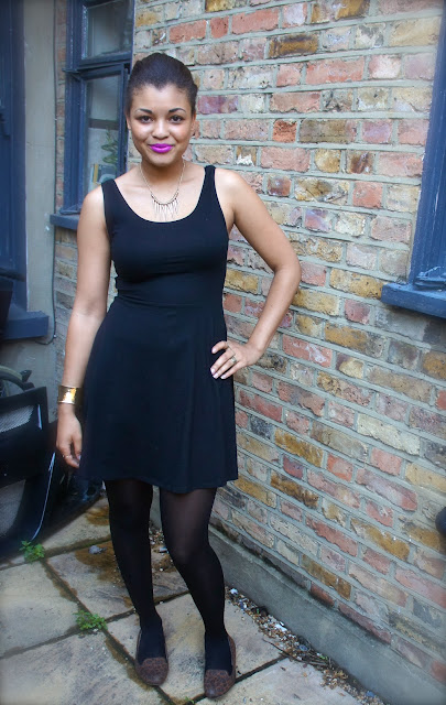 Yolanda G: ♥ OOTD Plain Black Dress