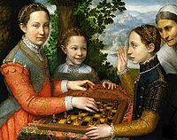 chess painting the chess game