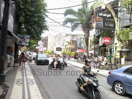 Jalan Legian (Legian Street) in Kuta Bali Indonesia