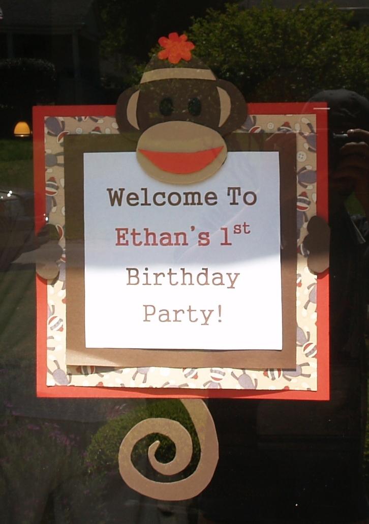 Eat, Create, Love: Sock Monkey 1st Birthday Party