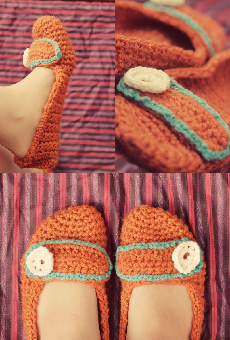 Free Crochet Slippers Pattern - Tiny Moon