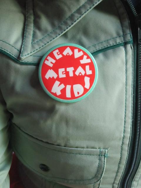 vintage Heavy Metal Kids badge