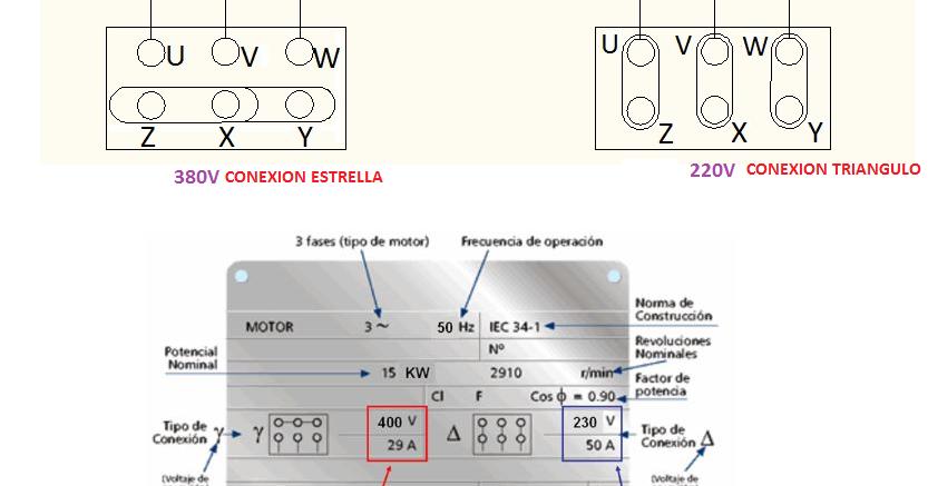Circuito Electrico Heladera Comercial : Borneras motor estrella triangulo esquemas eléctricos