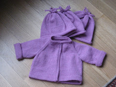 Baby Raglan Charity Sweater and Hat