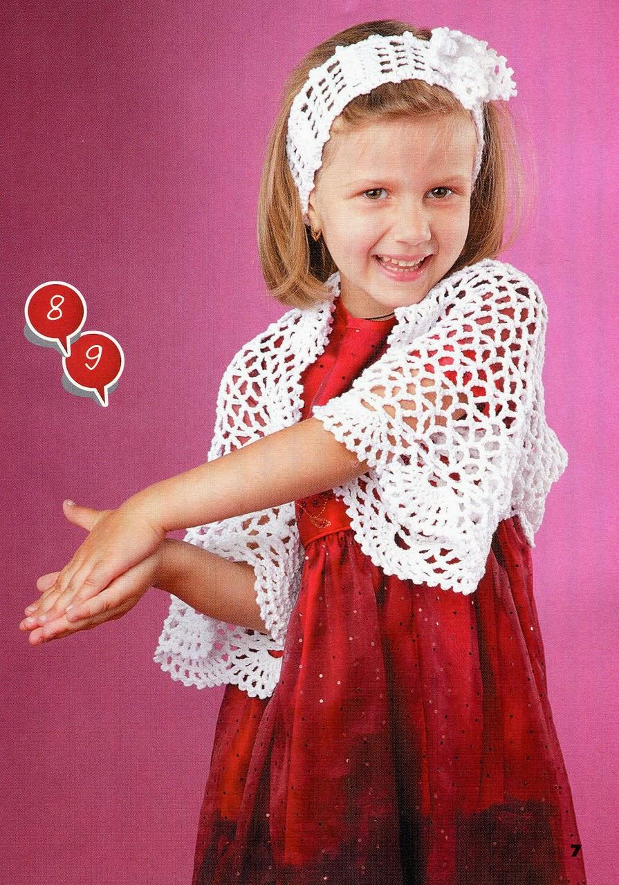Вязание болеро для девочки 4 лет 252