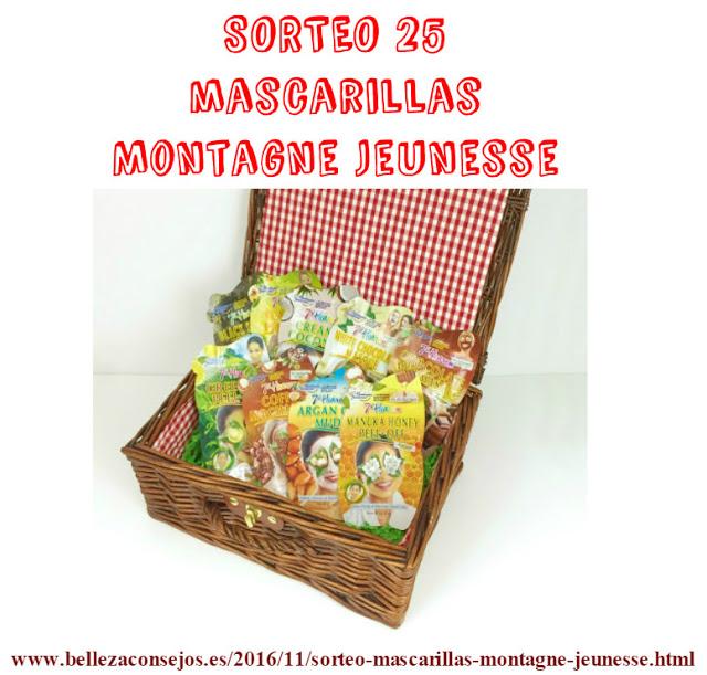 Sorteo 25 mascarillas Montagne Jeunesse