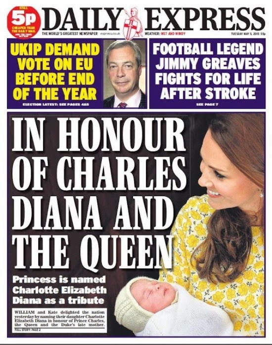 In Honour Of Charles, Diana And The Queen: Charlotte Elizabeth Diana
