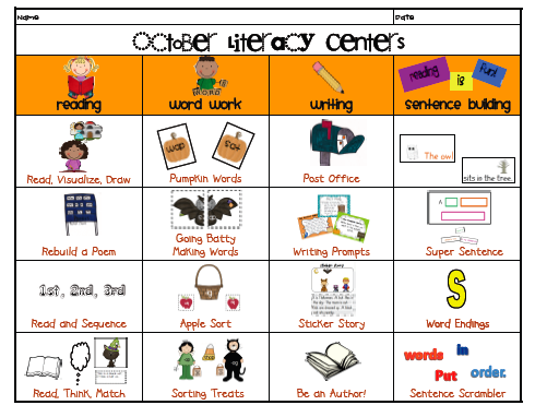 It's just an image of Luscious Printable Literacy Centers First Grade