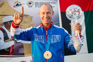 Vasily Mosin (Rússia) - Fossa Double - Final da Copa do Mundo ISSF de Tiro ao Prato Olímpico - Foto: Divulgação/ ISSF