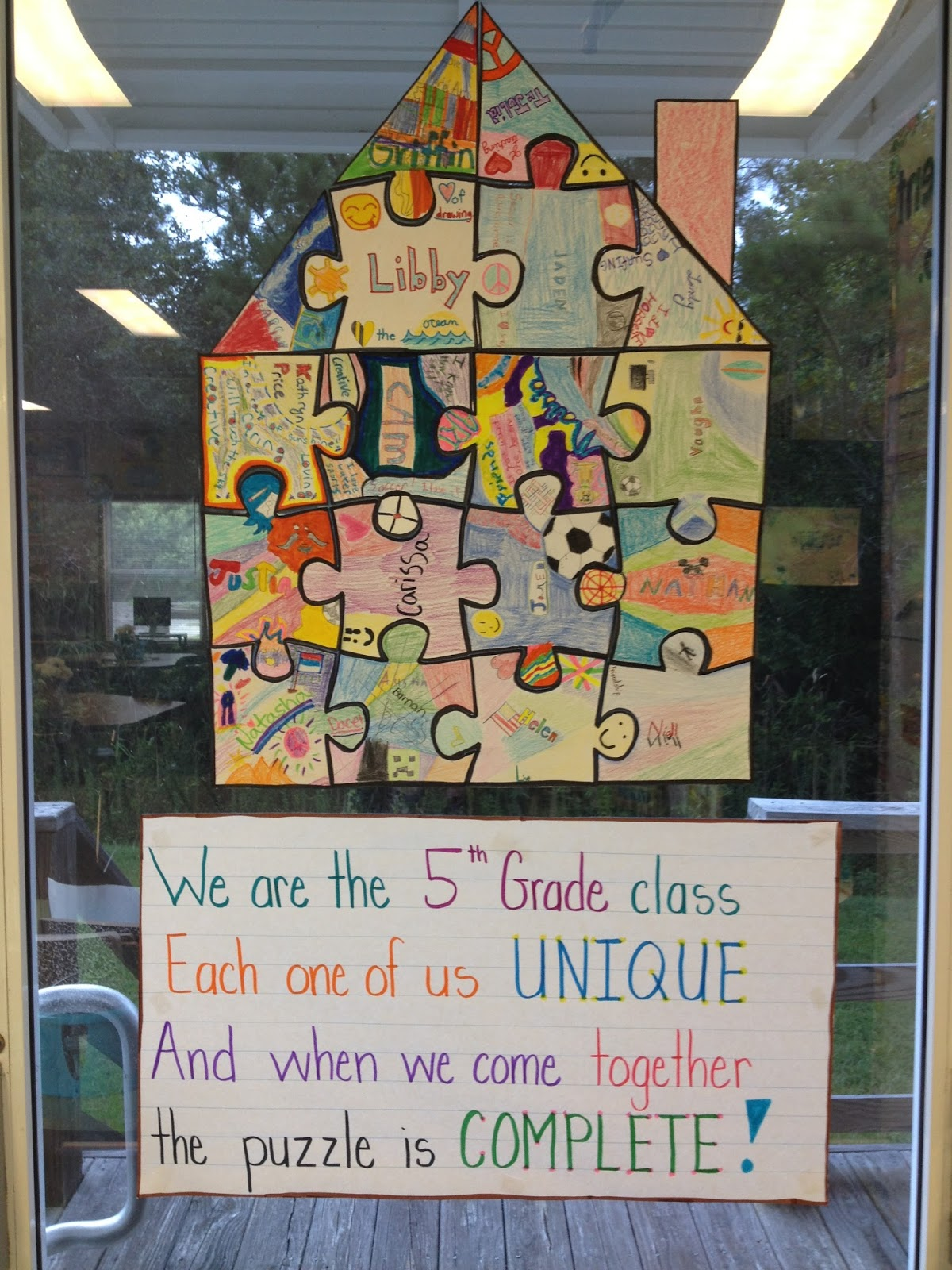 Classroom Unity Ideas : In th grade with teacher julia puzzle quot peaces an
