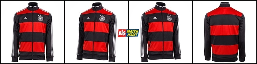 Jaket Bola Grade ORI Jerman Away Merah Hitam Official World Cup 2014
