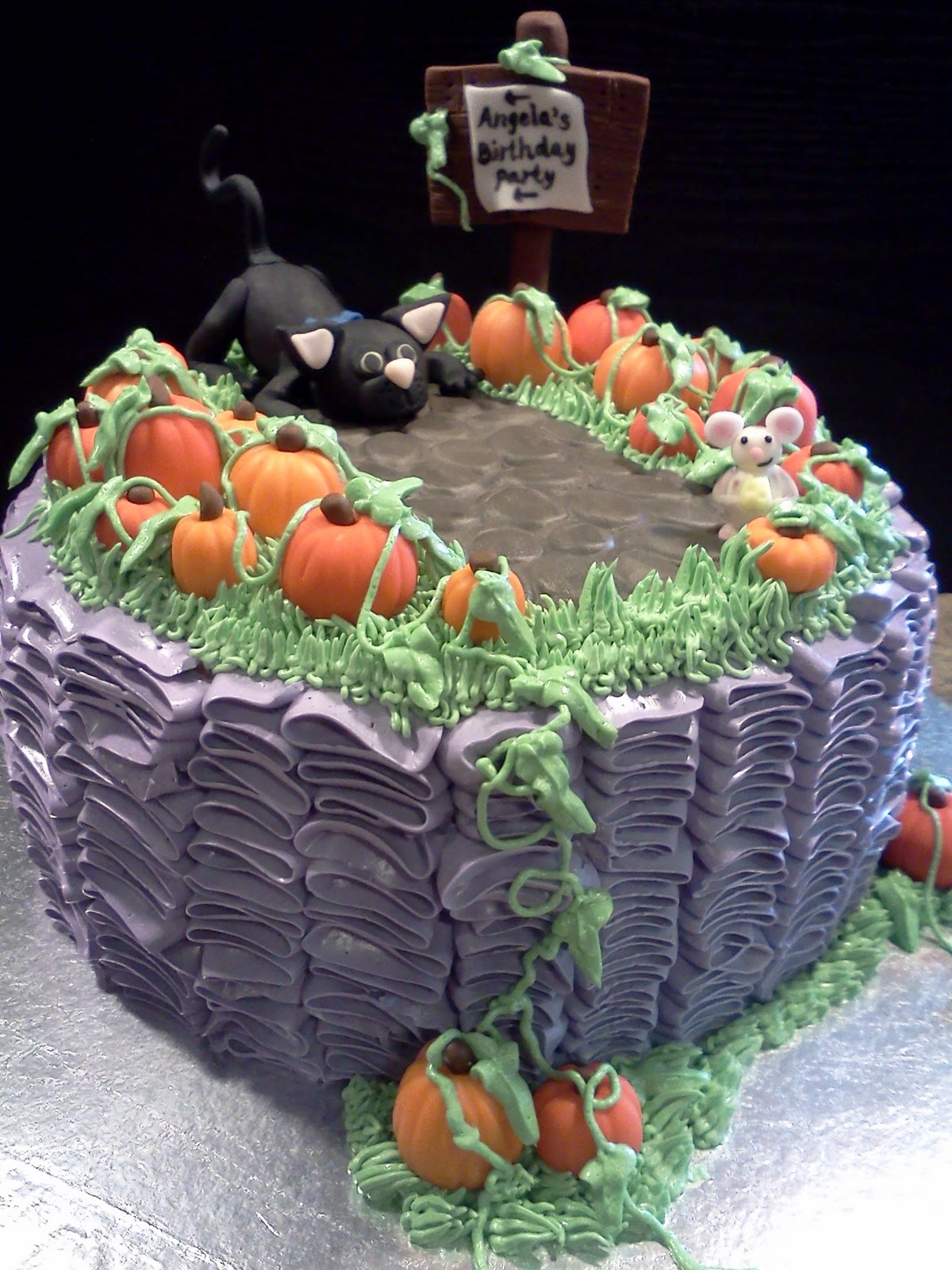 Lindys Bayside Confections Halloween Birthday Cake