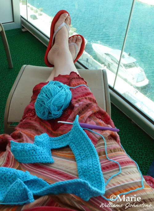crochet on a cruise vacation
