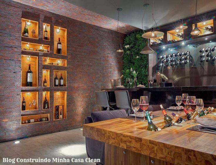 Construindo minha casa clean 21 bares e adegas modernas for Bar en casa rustico