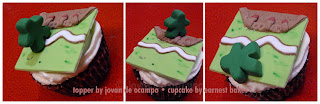 Carcassonne cupcake with meeple by Jovan and Earnest