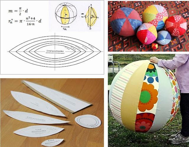 Lulina stoffball schnittmuster und anleitung for Riesenball zum reinsetzen