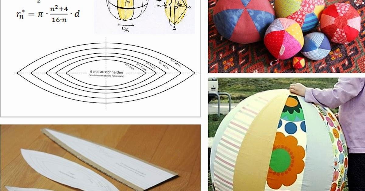 Lulina: Stoffball-Schnittmuster und Anleitung