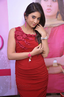 Harshika Pooncha latest Pictures in red 012.jpg