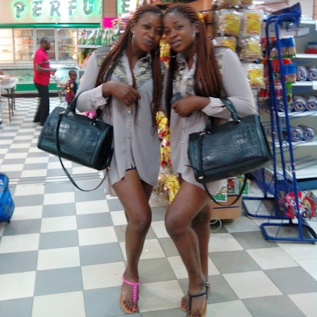 Ebony twin sisters