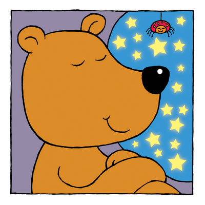 picture of sleepy bear from Sleepy Animals kindle children's picture book