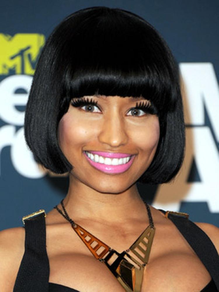 Popular Celebrity Bang Hairstyles Nicki Minaj