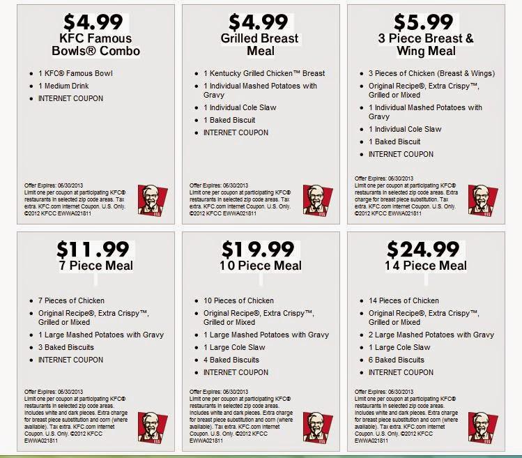 Kfc uk discount coupons